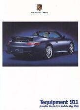 PORSCHE 911 996 Tequipment ZUBEHÖR Parts Tuning Prospekt Sales Brochure 2000