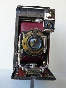 Très beau Folding Pocket Kodak 3A Model B-4 dans son étui Kodak