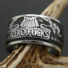 Women Men Stainless Steel Cool Gothic Punk Biker Finger Rings Jewelry Rock Gift