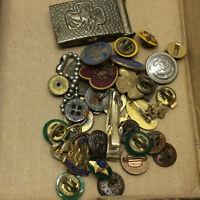 Vintage Girl Scouts Pins Den Mother Belt Buckle Key Chain Boy Scouts