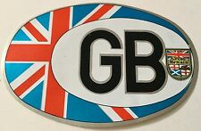 Great Britain GB Union Jack Oval Sticker