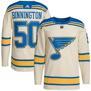 Jordan Binnington St. Louis Blues adidas 2022 Winter Classic Authentic Player