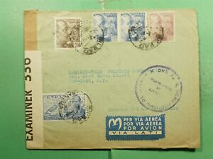 DR WHO 1940 SPAIN BILBAO AIRMAIL TO USA WWII CENSORED  g12471