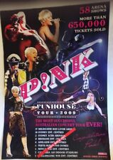 """P!NK100% SOLD OUT FUNHOUSE TOUR 2009 WALL POSTER 23"""" x 17"""" OFFICIAL NEW RARE"""