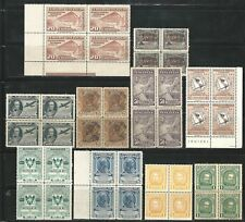 Venezuela: Small lot of 10 diff. in block of 4 1st. cent., mint NH. VE1800