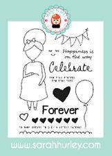 Sarah Hurley Doodle Muñecas-Nueva Mamá niña conjunto de sello