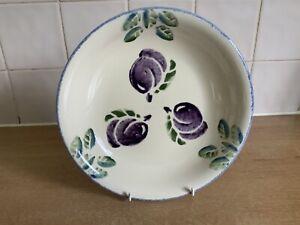 Poole Handpainted Pottery - Dorset Fruits - 1 x 22 cm Pasta Bowl - Plum