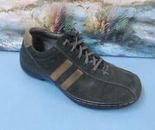 SKECHERS Mens 60043 Gray Leather Striped Lace Up Walking Sneaker Shoe 10.5