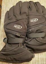 Men's XL Head Outlast Black Fleece Lined Nylon Ski Snow Winter Gloves Dry Pouch