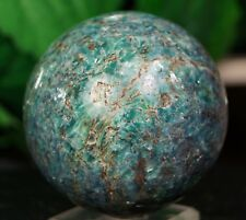 kyanite Mineral specimen hand polished emerald blue stone Sphere 65 mm swat Pak