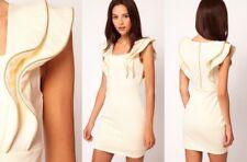 Ted Baker Immey 100% organic cotton ivory ruffle bodycon dress. Size 3 - UK 12.