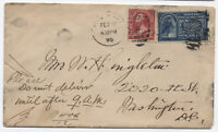 1895 Special Delivery Cover NY to DC E4 SCV $300 on cover [y1562]