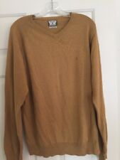 NWOT VOLCOM V-Neck Lt Brown Understated Sweater Size: Large  Corpo Class