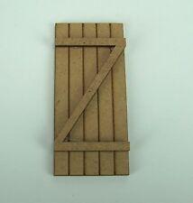 Braune Tür aus MDF Platten. Zum  Weihnachtskrippenbau. 4,1xH9 cm.