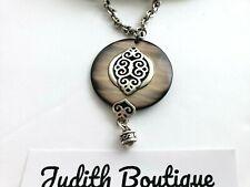 BRIGHTON  Geneva  Shell Pendant Silver  Necklace