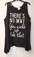 NEW WOMENS PLUS SIZE 3X THERES NO WAY YOU WOKE UP LIKE THAT SPLIT BACK TANK TOP