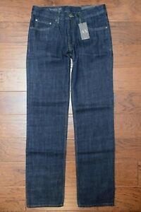 Armani Exchange A X Men's Straight Fit Navy 100% Cotton Jeans 31R W31 L32