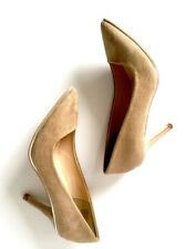 JUST FAB BARBIE WOMEN'S FAUX PUM HIGH POINTED TOE SIZE 6 TAUPE / ZAPATO DE MUJER