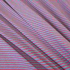 Stoff Meterware Baumwolle Jersey Ringeljersey Streifen aqua pink  NEU