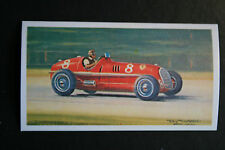 Alfa Romeo  8C-35  Nuvolari    Motor Racing Illustrated Card    VGC