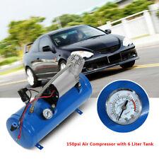 12v Quad Train Air Horn /16.4ft Hose 150db Loud 6 liters Compressor 150 PSI Kit
