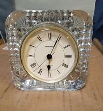 STAIGER West Germany SQUARE Quartz CLOCK / FRENCH LEAD CRYSTAL