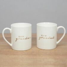 Bambino Set of 2 Ceramic Mugs - New Grandma & New Grandad