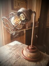 Industrial / Steampunk 100% Recycled Designer Table / Desk Lamp. Man Cave Office