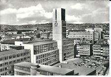 """Ansichtskarte Stuttgart """"Neues Rathaus mit Parkplatz und Autos"""" - schwarz/weiß"""