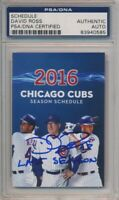 David Ross Signed 2016 Chicago Cubs Pocket Schedule PSA/DNA Auto #0585