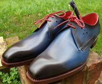 Jeffery West Shoe Mancha Floyd Shadow Gibson UK 9 Goodyear DiamondSole Cian Blue