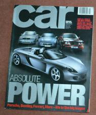 Car magazine February 2001 Volvo S60, Lexus IS, Ferrari 456 v Merc CL55 vBentley
