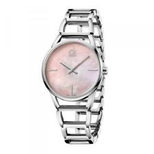 Calvin Klein Women's Watch K3G2312E Stately Ladies Pink Mother of Pearl Dial