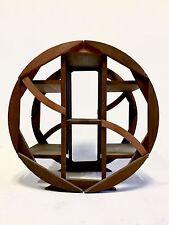 Vintage MidCentury Atomic Plant Stand Sputnik Danish Table Eames Shelf Teak Wood
