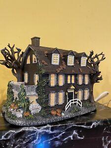 Hawthorne Haunted Village Amityville house with box