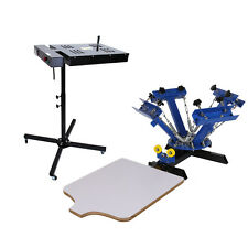 4 Color 1 Station Silk Screen Printing Machine & 18