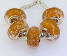 475PCS Silver Murano Lampwork Glass Beads fit European Charm Bracelet IL147