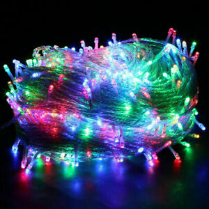 Plug in Fairy Lights Mains Powered Outdoor LED Christmas String Lights 10-50M