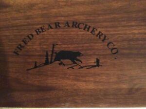 vintage fred bear archery Serving Tray