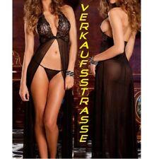 Sexy Lingerie Lang Reizwäsche Babydoll Negligee Nachtkleid XS S 32 34 36 NEU