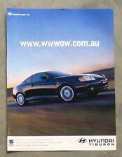 HYUNDAI TIBURON V6 Sports Coupe Car Magazine Page Sales Advertisement Brochure