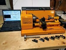 Emco Compact 5 PC CNC Lathe w/ Laptop & Tooling, MT2 Collet drawbar w/threading