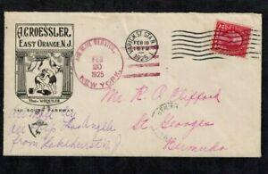 """Bermuda Airmail Cover U.S. Navy Dirigable """"Los Angeles"""" NJ to Bermuda 1925"""
