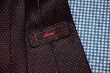 BRIONI NAVY BLUE WITH RED DOTS SILK TIE