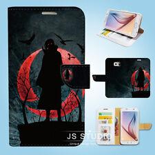 Samsung Galaxy S3 4 5 6 7 8 Edge Plus Note Wallet Case Cover Naruto Black W014
