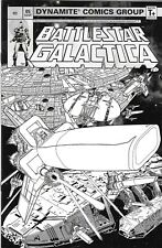 Battlestar Galactica Classic Comic 5 Cover D Incentive HDR Black and White Cover