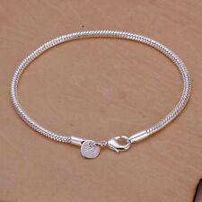 Damenarmband  Armreif Silber pl. 20cm  Damen Schlangen Armband 20/3