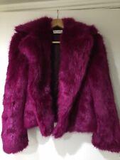 Dries Van Noten Faux Fur Coat Pink Size S (RRP £713)