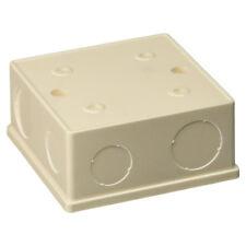 2 Pcs 86x86x40mm White PVC Flush-Type Wall Mounted Single Gang Junction Box N1F3