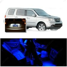 For Honda Pilot 2006-2008 Blue LED Interior Kit + Xenon White License Light LED